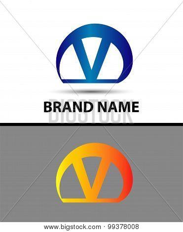 Alphabetical Logo Design Concepts. Letter V