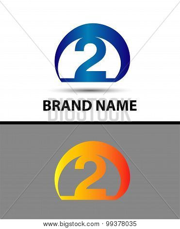 Vector sign logo number 2