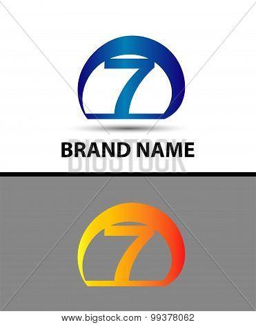 Vector sign logo number 7