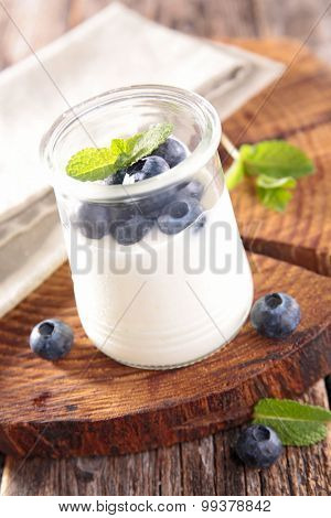 yogurt and blueberry