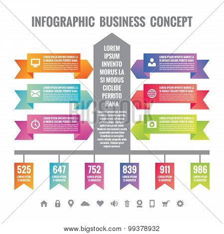 Business infographic concept layuot. Origami vector banners - Infographic template for presentation,