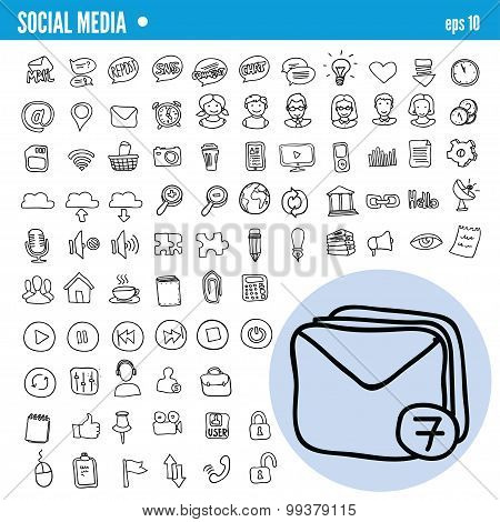 Vector Doodle Web Icons
