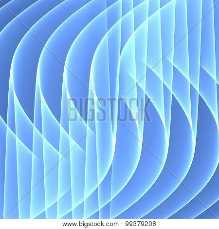 Abstract blue background. Bright blue lines. Geometric pattern in blue colors. Digital art.