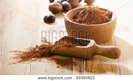 Cacao Powder In A Scoop.
