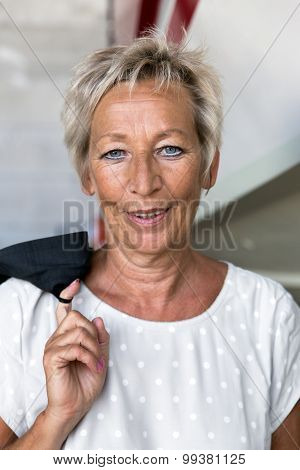 Portrait Of A Attractive Older Business Woman