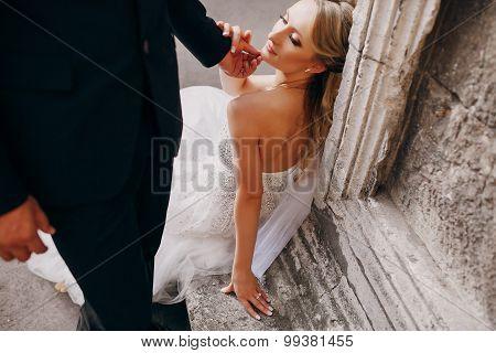 Wedding couple in love