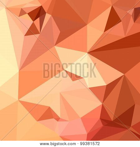 Tango Orange Abstract Low Polygon Background