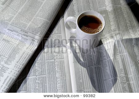 Coffee And Stock Chart 3