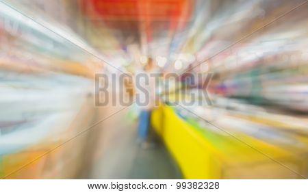 Image Of Blur Thailand Market