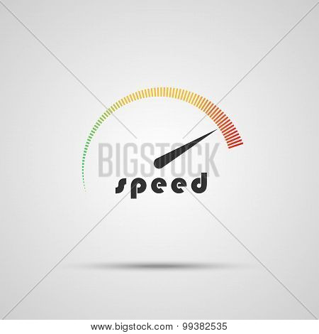 Speedometer Icon. Logo Company. Internet Speed  Indicator. Vector