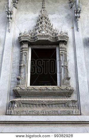 Buddha sculpture in Thai temple of Thailand