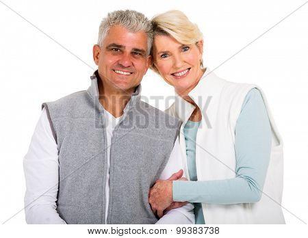 beautiful senior couple looking at the camera