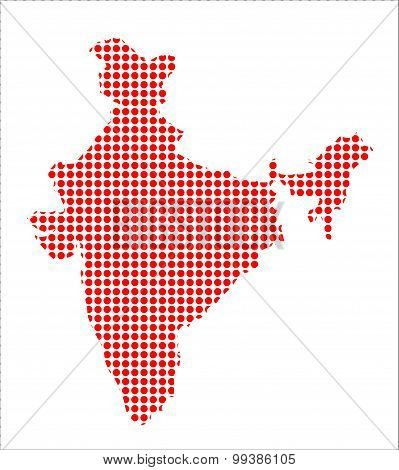 Red Dot Map Of India