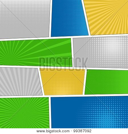 Comics popart style blank layout template