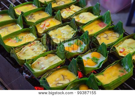 Egg With Mix Vegetables Grill (kai Pam)