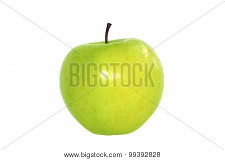 The Green apple isolate on white background