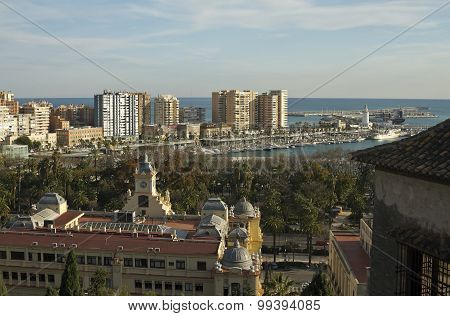 Nice View Of The Malaga Marina