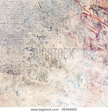 Abstract Painted Canvas Background