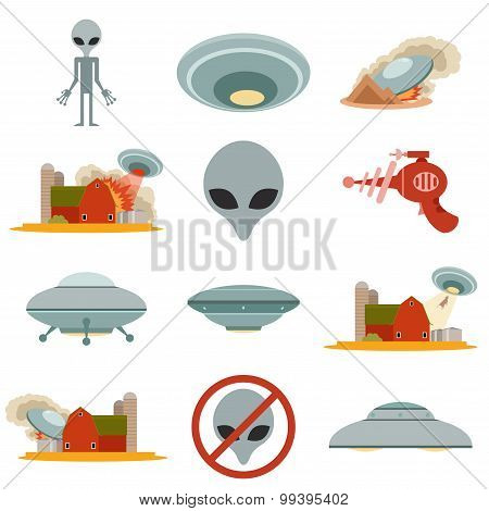 Set of alien invasion