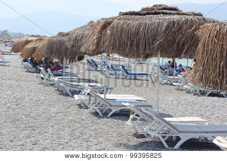 Calis beach in Turkey