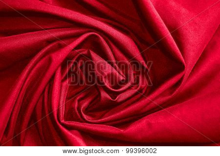 abstract background luxury cloth or circle flower wave or wavy folds of red cloth texture
