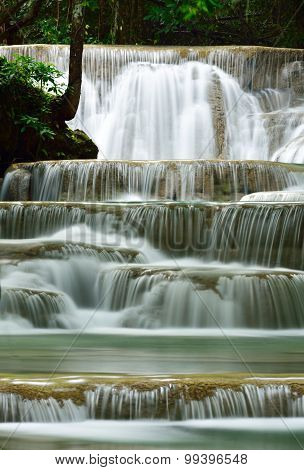 Water Fall In Deep Forest