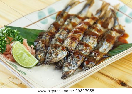 Traditional Japanese Food, Shishamo Yaki