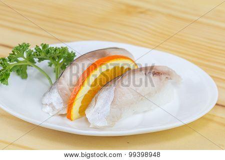 Traditional Japanese Food, Sushi Saba Fish
