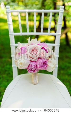 Beautiful wedding bouquet for bride