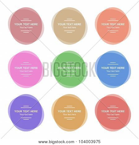 Set of  Colorful Round Banners