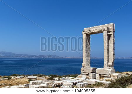 Apollo Temple entrance, Naxos island, Cyclades