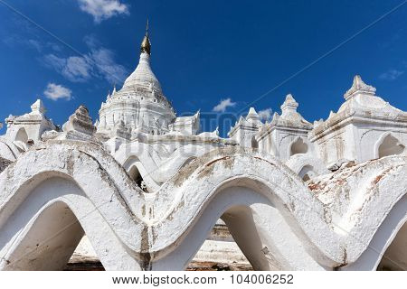 The Hsinbyume white pagoda in the Mingun village, Myanmar