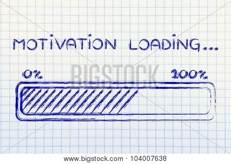 Motivation Loading, Progess Bar Illustration