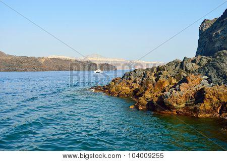 View on Santorini island, Greece