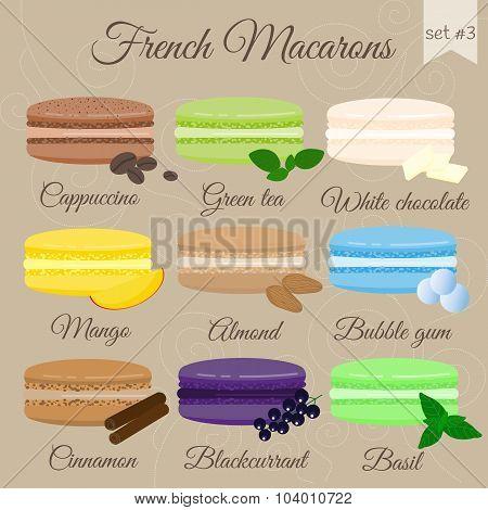 French Macarons. Set