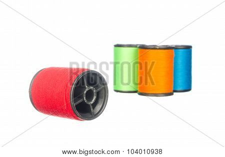 Colourful Thread Isolated On White