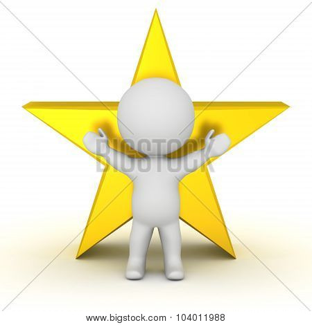 3D Character And Star