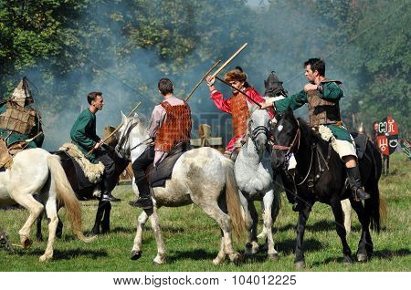 Equestrian Demonstration In Traditional Costumes