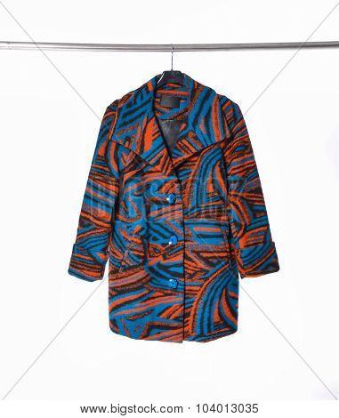 Female coat clothing on hanging