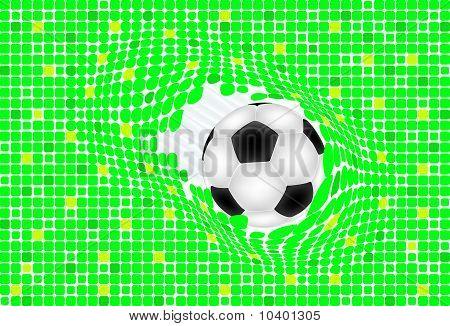 Ball broken green baskground