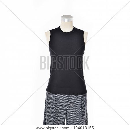 female dress on dummy-white background