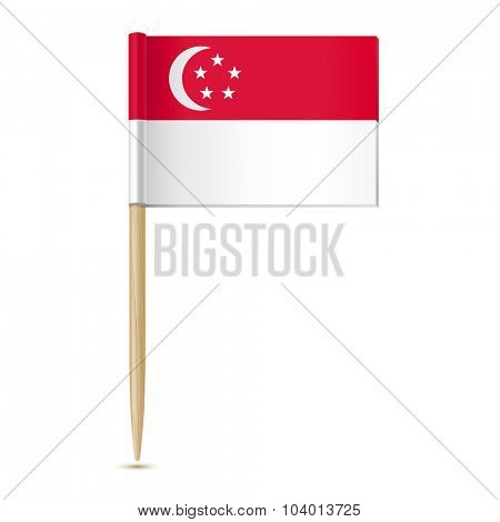 Singapore flag. Flag toothpick 10eps
