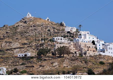 Panoramic view of Ios island, Cyclades