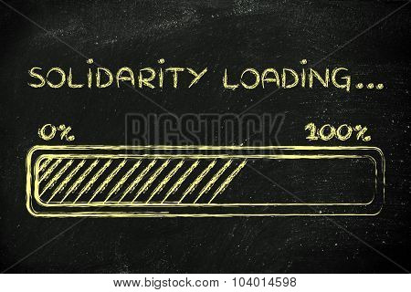 Solidarity Loading, Progess Bar Illustration