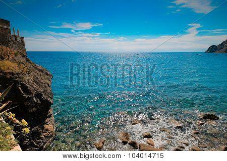 Summer Seascape, Cinque Terre Italy.