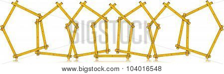 Houses - Wooden Folding Rulers