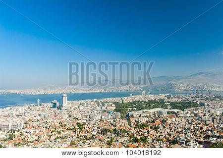 City of Izmir seen from the hill above, Turkey
