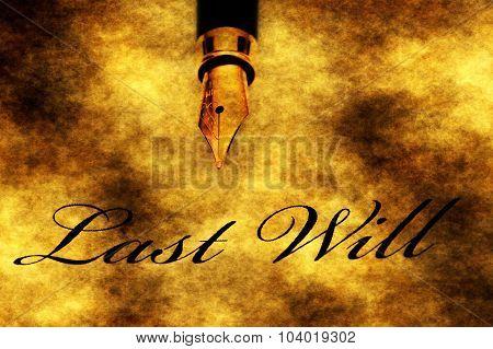 Fountain Pen On Last Will