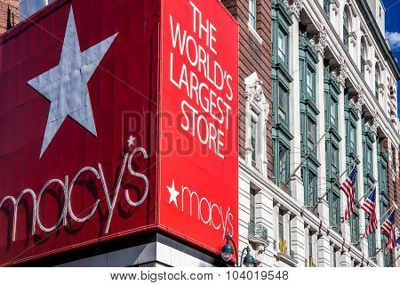 NEW YORK CITY, USA - CIRCA SEPTEMBER 2014: Famous Macy's store in New York City