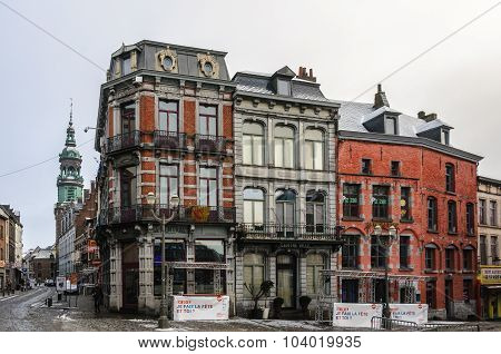 Old Town In Mons, Belgium, The Capital Of Culture